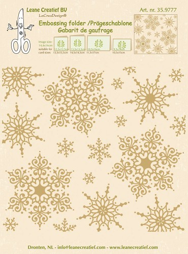 35.9777 Embossing folder snowflakes background