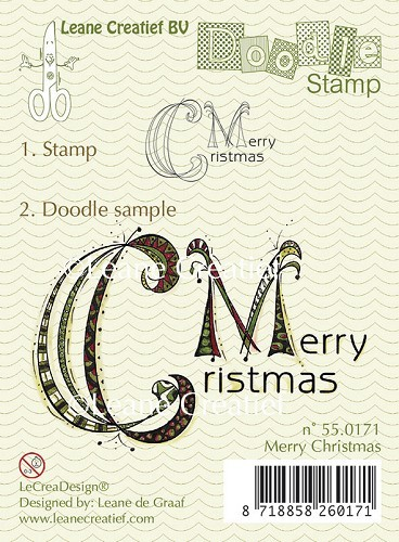 55.0171 Doodle clear stamp Merry Christmas