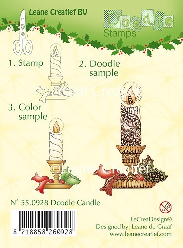 55.0928 Doodle Clear stamp Candle