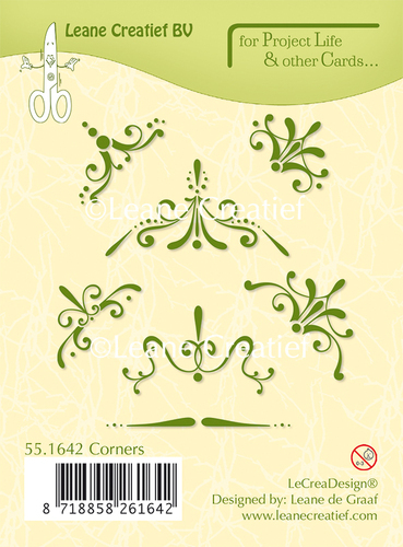 55.1642 Project Life & Cards clear stamp Corners