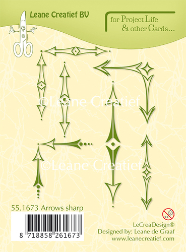 55.1673 Project Life & Cards clear stamp Arrows sharp