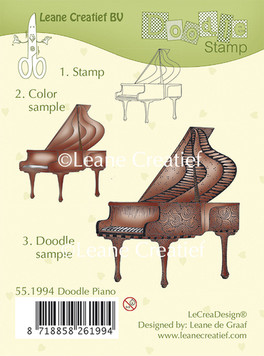 55.1994 Doodle clear stamp Piano