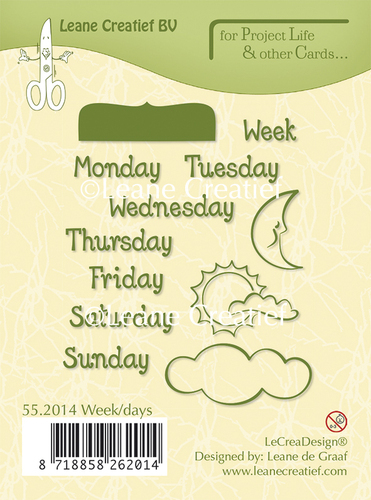 55.2014 Project Life & Cards clear stamp Week/Days English text