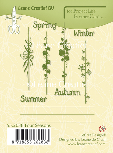 55.2038 Project Life & Cards clear stamp Seasons English text