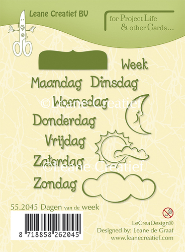 55.2045 Project Life & Cards clear stamp Dagen van de Week Nederlands