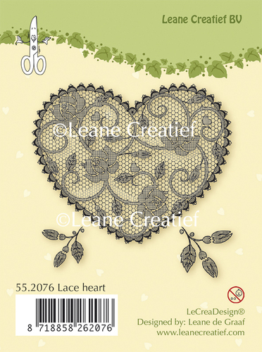 55.2076 Clear stamp Lace Heart