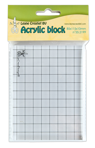 55.2199 Acrylic clear stamp block 85x115x10mm.