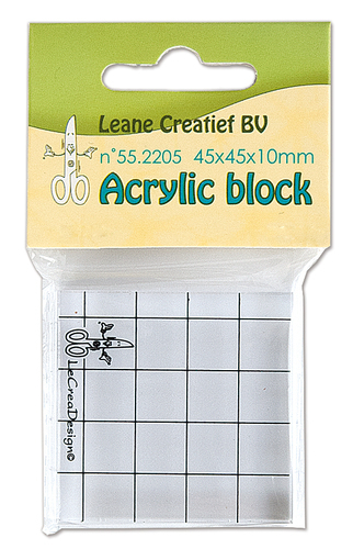 55.2205 Acrylic clear stamp block 45x45x10mm.