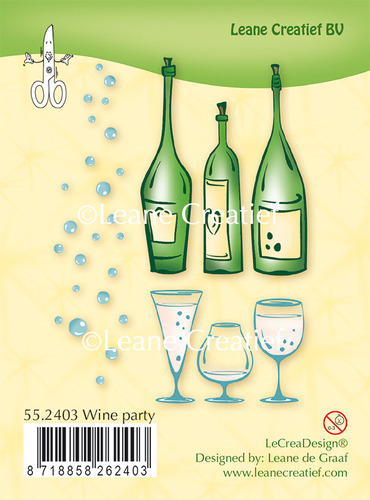 55.2403 Clear stamp Wine Party