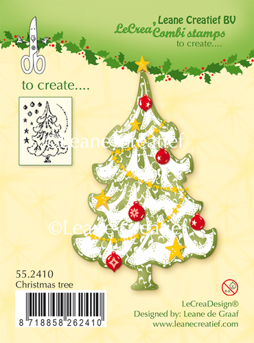 55.2410 Clear stamp Christmas Tree