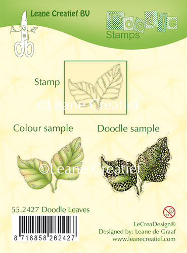55.2427 Doodle clear stamp Leaves