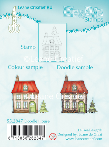 55.2847 Doodle clear stamp House