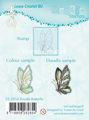55.2854 Doodle clear stamp Butterfly
