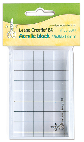 55.3011 Acrylic clear stamp block 55 x 85 x 18mm