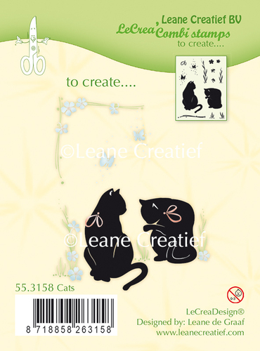 55.3158 Combi clear stamp Cats