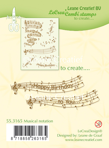 55.3165 Clear stamp Musical notation