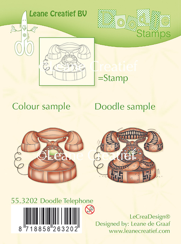 55.3202 Doodle clear stamp Telephone