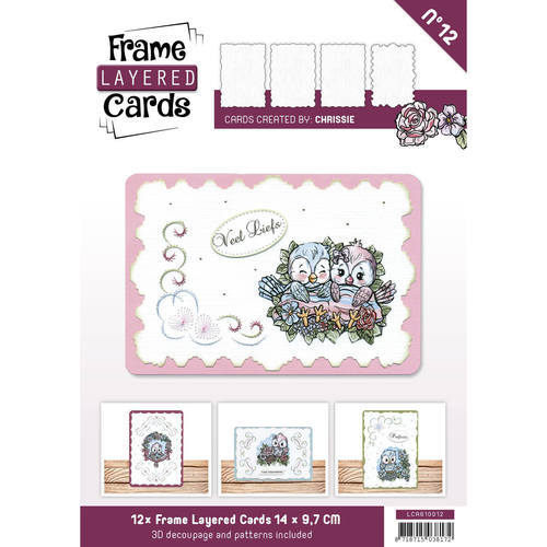 LCA610012 Frame Layered Cards 12 - A6