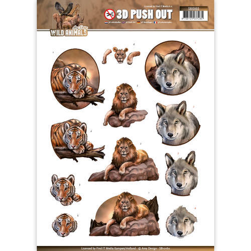 SB10160 Pushout - Amy Design - Wild Animals