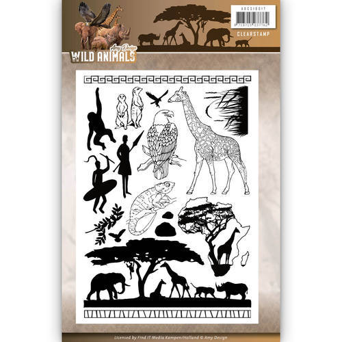 ADCS10017 Clearstamp - Amy Design - Wild Animals