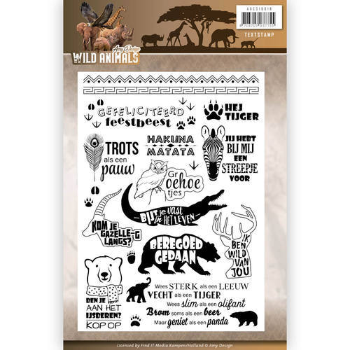 ADCS10016 Clearstamp - Amy Design - Wild Animals - Tekst