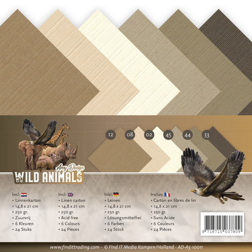 AD-A5-10011 Linnenpakket - A5 - Amy Design - Wild Animals