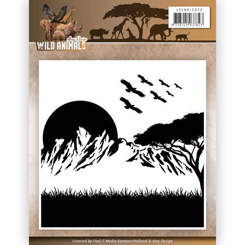 ADEMB10006 Embossing Folder - Amy Design - Wild Animals