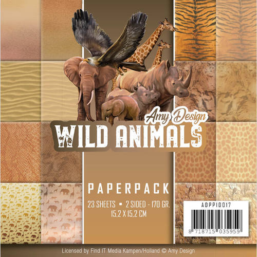 ADPP10017 Paperpack - Amy Design - Wild Animals