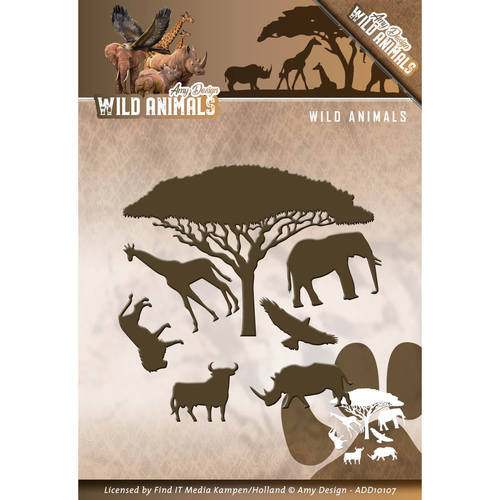 ADD10107 Die - Amy Design - Wild Animals - Wild Animals