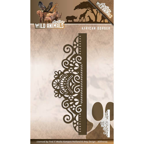ADD10105 Die - Amy Design - Wild Animals - African Border