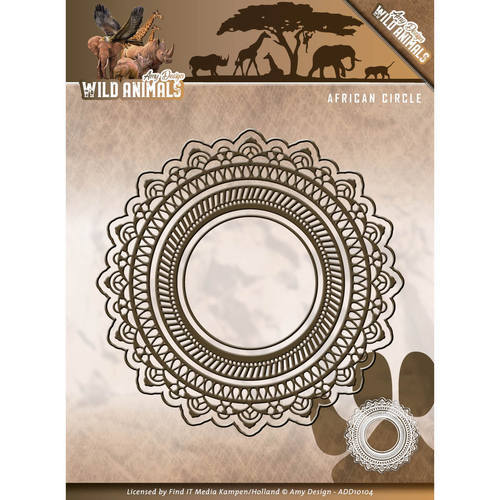 ADD10104 Die - Amy Design - Wild Animals - African Circle