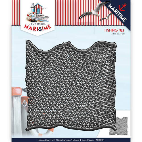 ADD10101 Die - Amy Design - Maritiem - Fishing Net