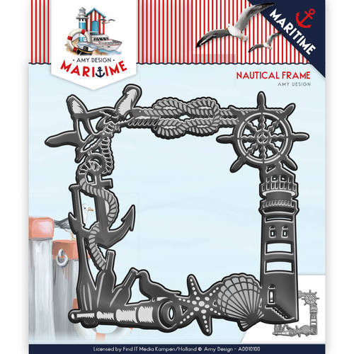 ADD10100 Die - Amy Design - Maritiem - Nautical Frame
