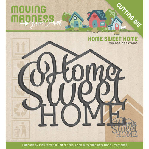 YCD10098 Die - Yvonne Creations - Moving Madness - Home Sweet Home