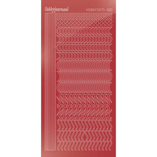 STDM20H Hobbydots sticker - Mirror Christmas Red