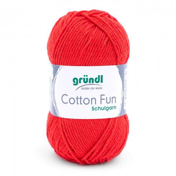 762-06 Cotton Fun 10x50 gram signaalrood
