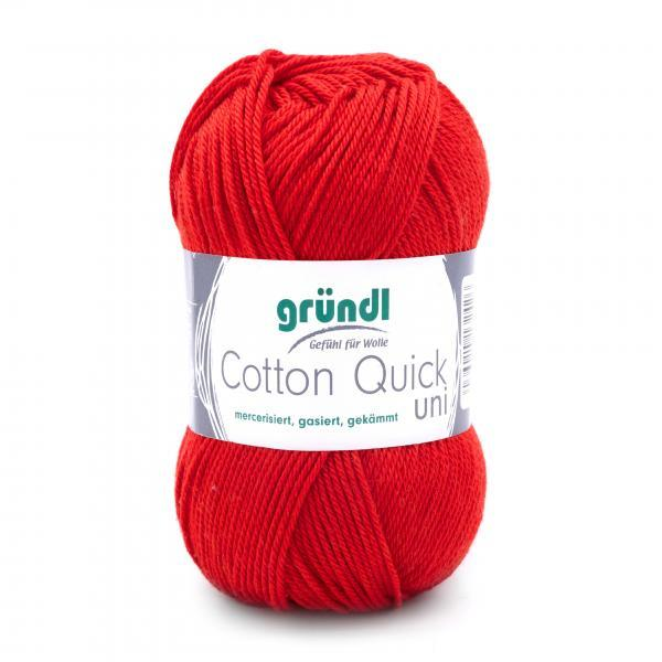 865-120 Cotton Quick Uni 10x50 gram rood