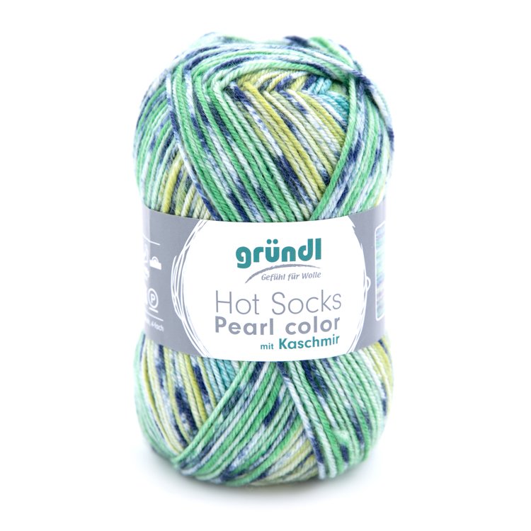 3555-06 Hot Socks Pearl color 10x50 gram jungle/green mix