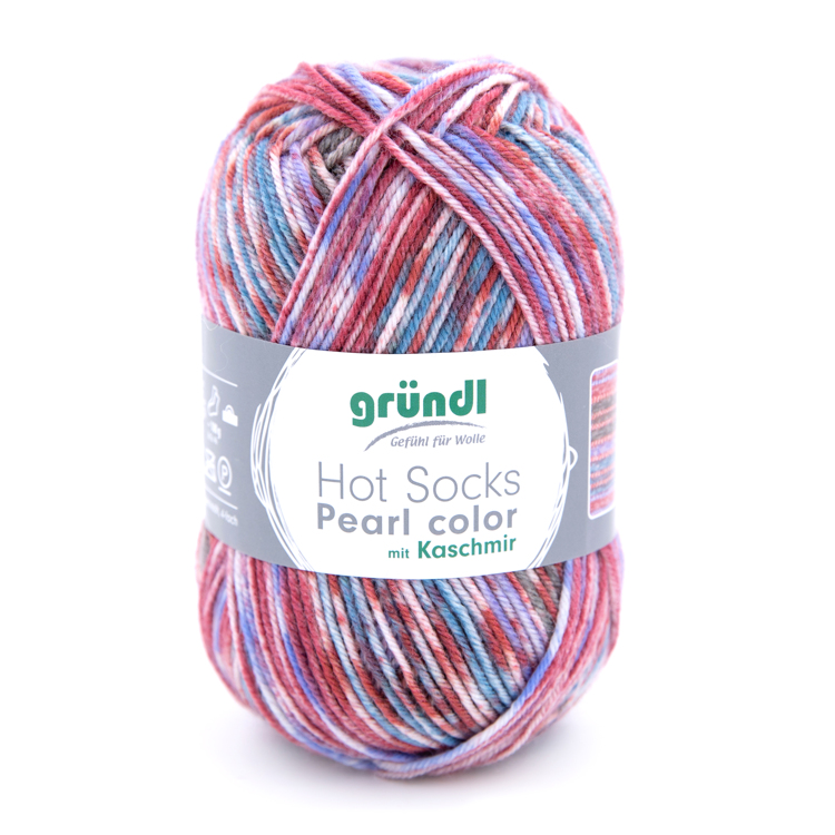 3555-08 Hot Socks Pearl color 10x50 gram circus mix