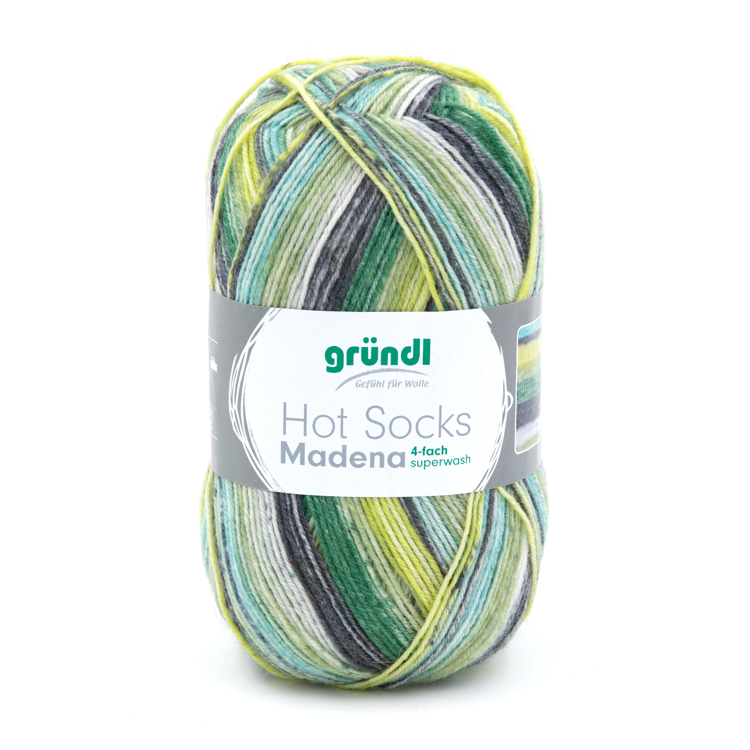 3509-02 Hot Socks Madeira, 4-draads 10x100 gram neptun color mix