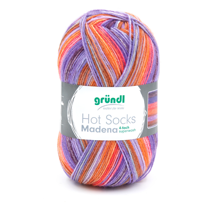 3509-03 Hot Socks Madeira, 4-draads 10x100 gram tutti-frutti mix