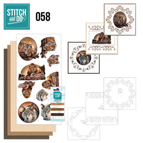 STDO058 Stitch and Do 58 - Wild Animals