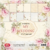 CPB-MW30 My Wedding paper pad 12X12 6X2 design