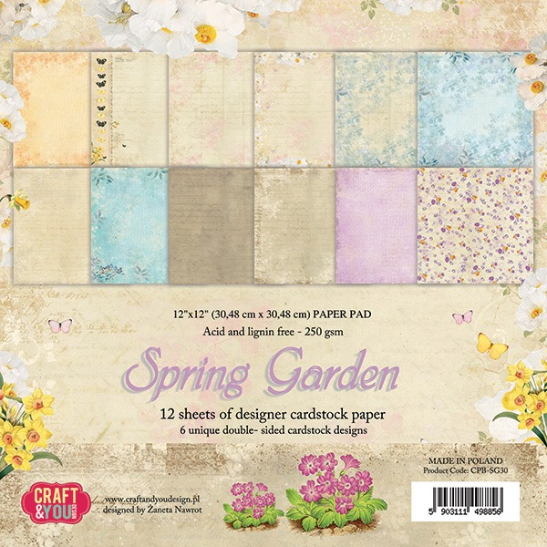 CPB-SG30 Spring Garden - paper pad 12x12