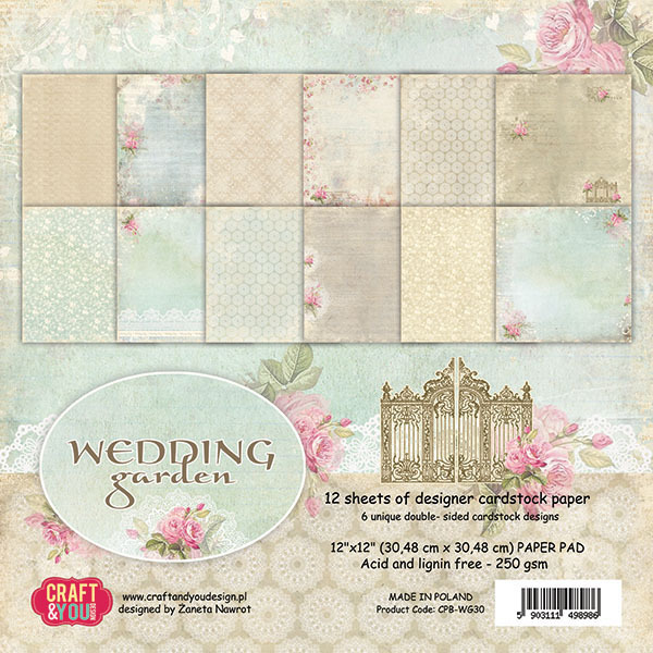 CPB-WG30 Wedding Garden Big Paper Pad 12x12