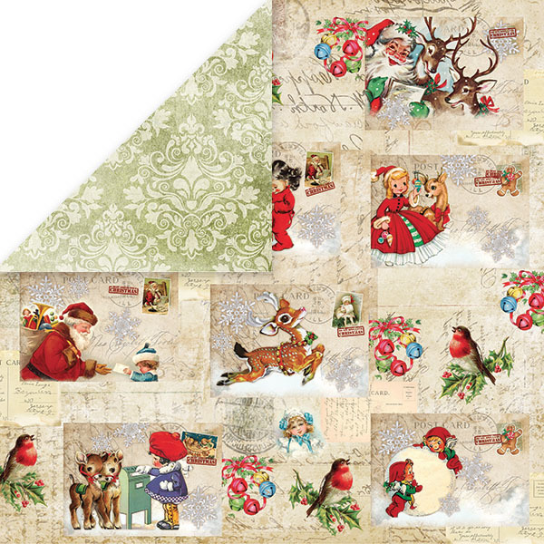 CP-NP01 NORTH POLE Scrapbooking single paper 12x12(200gsm)