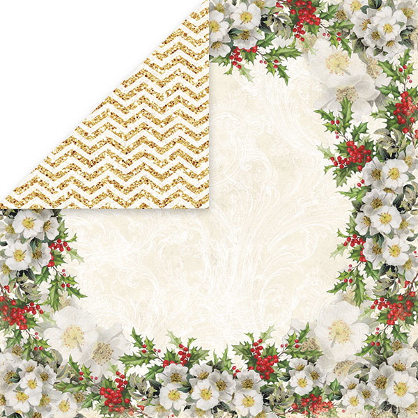 CP-WC01 WHITE CHRISTMAS Scrapbooking single paper 12x12(200gsm)