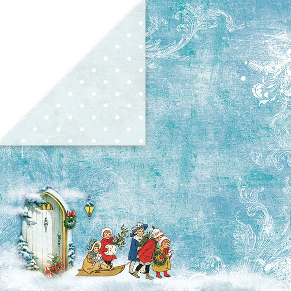 CP-WC03 WHITE CHRISTMAS Scrapbooking single paper 12x12(200gsm)