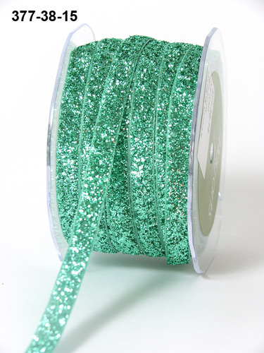 377-38-15 Metallic Velvet 3/8-10mm rol 27,4mtr Green