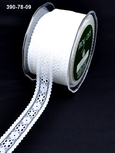 390-78-09 Lace ivory 7/8-21mm rol 27,4mtr